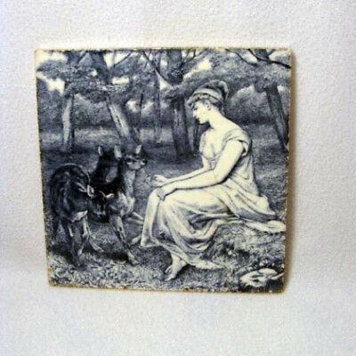 Antique Minton Stoke Upton Trent Lady Feeding Deer In The Forrest**as Is**wow!!