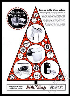 1967 Arkla Village Arkansas saddle 2 styles photo Christmas tree design print ad
