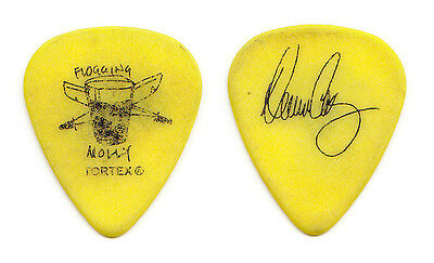 Flogging Molly Dennis Casey Signature Yellow Guitar Pick - 2011 Tour