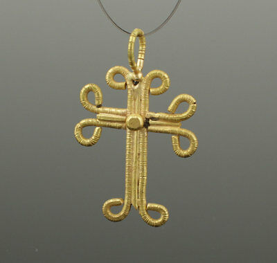 Medieval Gold Cross - Circa 14Th Century Ad 031