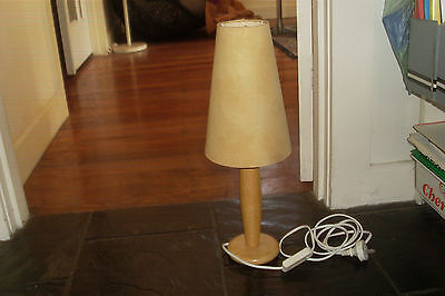 Vintage Retro Danish Style Wooden Bedside Lamp
