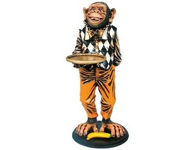 Monkey Chimp Butler Statue Restaurant Chimpanzee Display Funny Decor