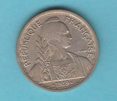 1939 French Indo China 20 cent  1yr type coin  inv#8580