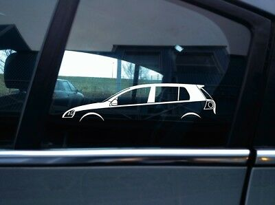 2x vag car silhouette stickers - For VW Mk5 Golf GTI (5-door) edition