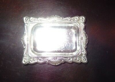 Vintage Antique Small Silver Plated Tray Made in Hong Kong
