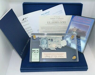 (1) Historic Shipwreck Currency Italian Lire From SS Andrea Doria Graded By PCGS