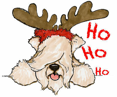 Wheaten Terrier   Christmas note cards add a short message inside Free