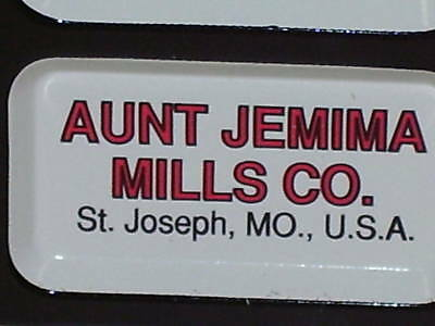 AUNT JEMIMA Pancake Flour -From  SAINT JOSEPH, MO- Thermometer SIGN Made In USA