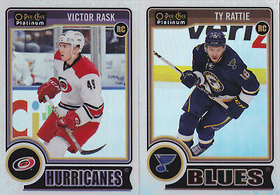 14-15 OPC Platinum Ty Rattie /199 Rookie White Ice OpeeChee Blues 2014