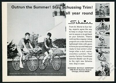 1968 Schwinn Twinn tandem Sting Ray Varsity Unicycle bike 6 photo vintage ad