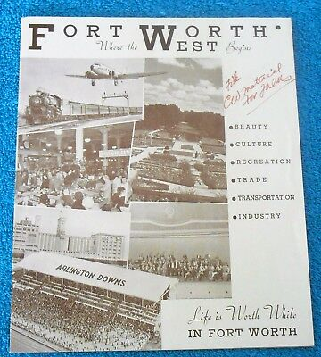 1936 Fort Worth Texas Chamber of Commerce Promotional Highlights Pictorial