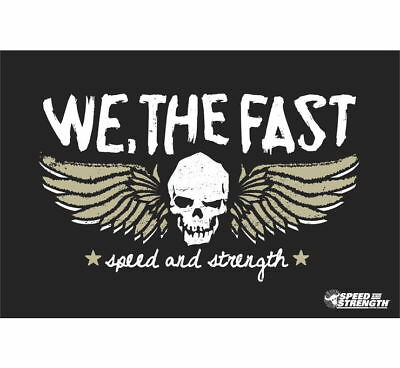 Speed & Strength We, The Fast Banner Black
