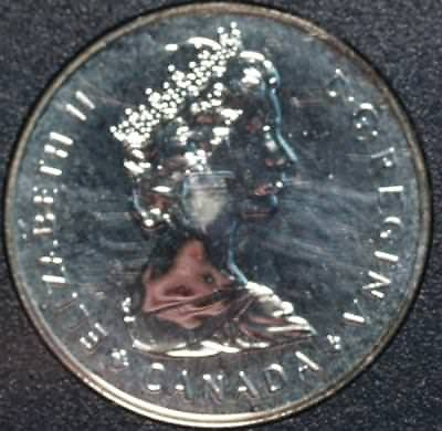 Uncirculated 1985 Silver Canada $1 Dollar Foreign Coin Free S/H