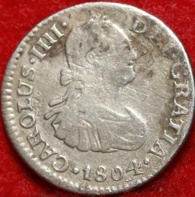 1804 Spain Real Silver Foreign Coin Free S/H