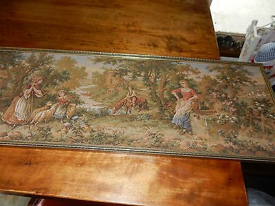 Framed Old Piece Of Tapestry Bought In Firenze Italy 1975