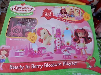 2007 Strawberry Shortcake Beauty To Berry Blossom PLay Set Great Gift New