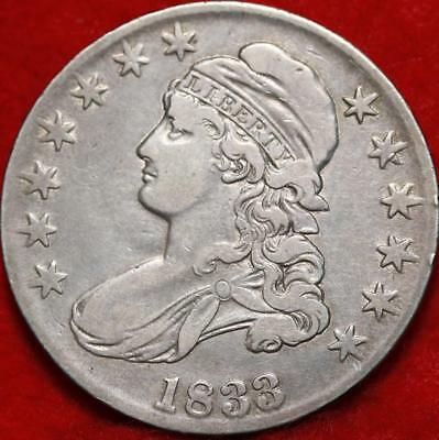 1833 Philadelphia Mint Silver Capped Bust Half Dollar Free S/H
