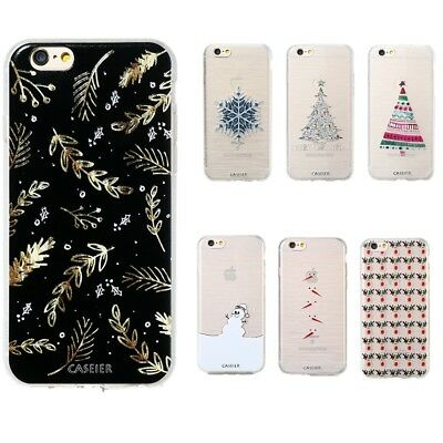 Christmas Rubber Slim Soft TPU Silicone Phone Case Cover For iPhone X 7 Samsung