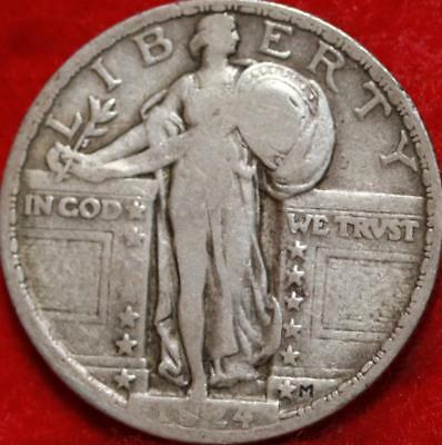 1924 Philadelphia Mint Silver Standing Liberty Quarter Free Shipping