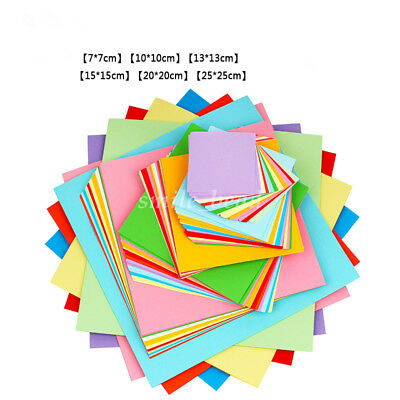 Double Colored DIY Origami Paper Craft Square 100 Sheets 7/10/13/15/20/25 cm New