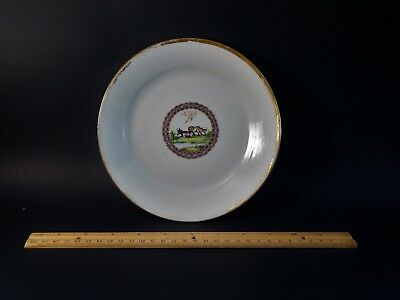 Udderly Charming Antique Chinese Export Armorial Saucer  with Cows Circa 1790