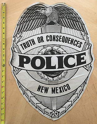 Truth Or Consequences Police Cop Car Door Decal Shield New Mexico T Or C  Nm