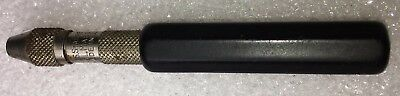 Used Starrett No.166A Pin Vise W/ Insulated Octagonal Handle  2+7/8 Inch Long