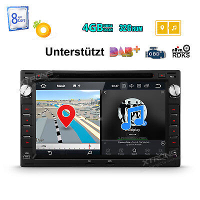 Octa Core Android 8.0 4GB RAM Autoradio GPS Für VW BORA POLO GOLF MK4 PASSAT B5