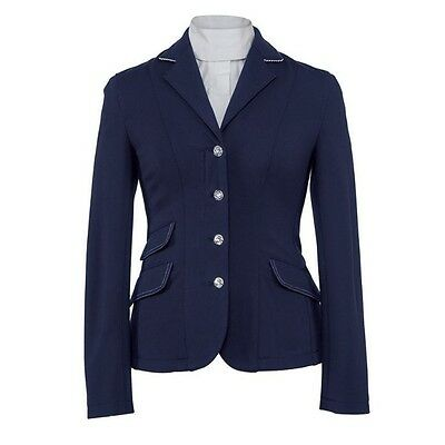 SHIRES SLOANE SHOWJUMPING / DRESSAGE JACKET LADIES NAVY horse riding show wear