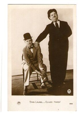 Stan Laurel Oliver Hardy Vint Laurel and Hardy French Photo Postcard