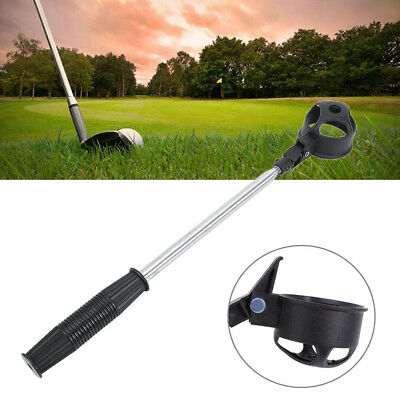 2 Metres Stainless Steel Golf Ball Retriever Retractable Scoop Pick Up Tool DH
