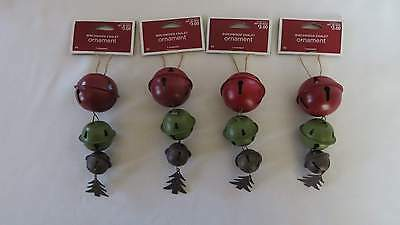 4 Birchwood Chalet Bell Christmas Ornaments New