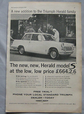 1961 Triumph Herald Original S advert No.1