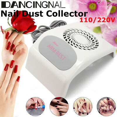 ARM REST Nail Dust Suction Collector Cleanser Nail Art Tool Machine with Big Fan