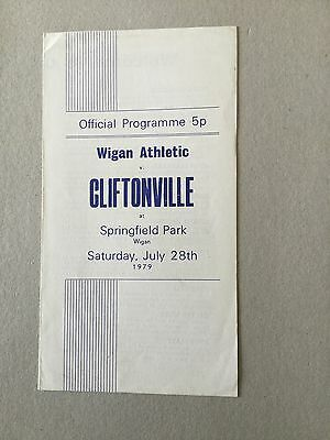 WIGAN ATHLETIC v CLIFTONVILLE ( Fr ) 1979/0.