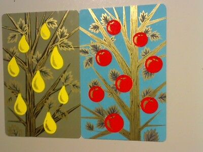 (2) Swap/Playing Cards - Pair Fruit on Trees*