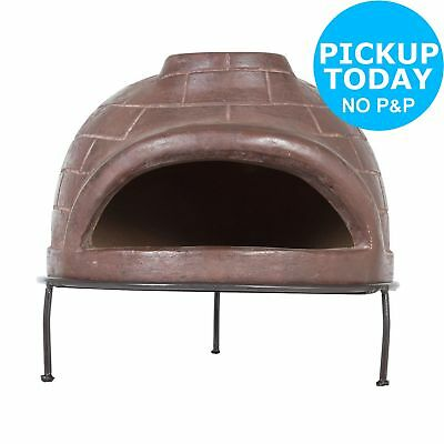 La Hacienda Mexican Handmade Table Top Clay Pizza Oven. From Argos on ebay