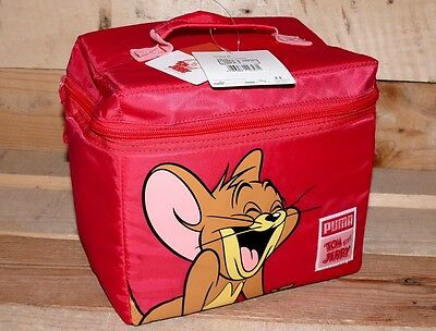 PUMA Tom&Jerry Kinder Kühl Isoliert Thermos Tasche Baby Kids Small Bag Pink OSFA