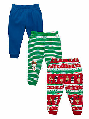 Ladybird Baby Boys Pack of Three Christmas Joggers