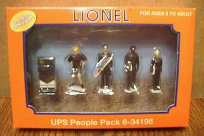 Lionel 6-34195 Ups People Pack Pewter Figures O Scale