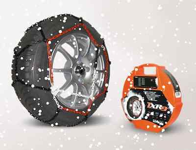 """Pair of 9mm Car Tyre Snow Chains for 18"""" Wheels TXR9 Hatchback,Saloon,Estate"""