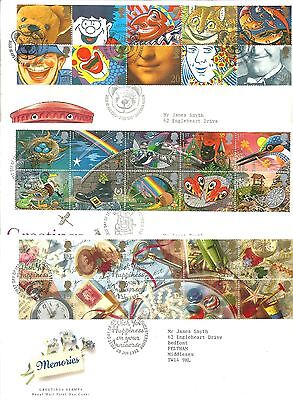 GB GREETINGS First Day Covers - 3 different