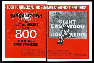 1972 Clint Eastwood Joe Kidd movie release trade print ad