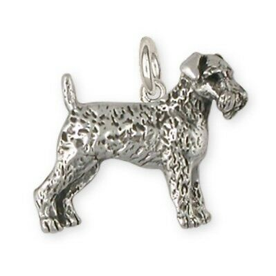 Solid Silver Airedale Terrier Charm Jewelry AR10-C