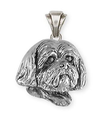 Solid Sterling Silver Lhasa Apso Pendant Jewelry  LSZ19-P