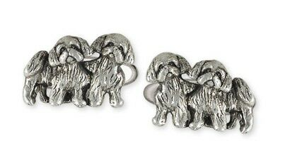 Handmade Sterling Silver Lhasa Apso Cuff Link Jewelry LSZ25-CL