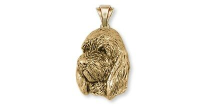 Pbgv Petit Brussels Griffon Vendeen Pendant 14k Yellow Gold Vermeil Dog Jewelry