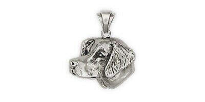Brittany Dog Pendant Handmade Sterling Silver Dog Jewelry BR1-P