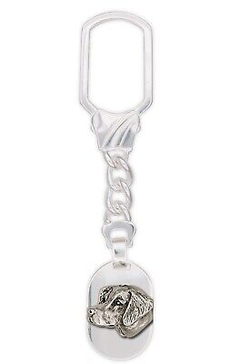 Brittany Dog Key Ring Handmade Sterling Silver Dog Jewelry BR1-KR