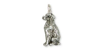 Brittany Dog Charm Handmade Sterling Silver Dog Jewelry BR2-C